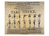 Recruiting Broadside, c1798 Giclee Print