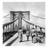 NY: Brooklyn Bridge, 1899 Print