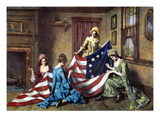 Birth of the Flag Giclee Print by Henry Mosler