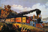 American Express Train Giclee Print by  Currier & Ives