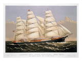 Clipper Ship, 1875 Print by  Currier & Ives