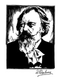 Johannes Brahms (1833-1897) Giclee Print by Samuel Nisenson