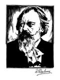 Johannes Brahms (1833-1897) Giclee Print by Samuel Nisenson