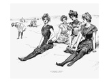 Swimsuits, 1900 Prints by Charles Dana Gibson