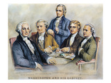 George Washington Premium Giclee Print by  Currier & Ives