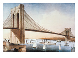 Brooklyn Bridge, NYC, 1881 Prints by  Currier & Ives