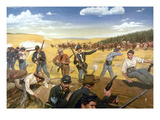 Wagon Box Fight, 1867 Giclee Print by Hugh Charles Mcbarron Jr.