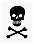 Skull and Crossbones Giclee Print
