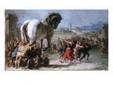 Trojan Horse Premium Giclee Print by Giovanni Domenico Tiepolo