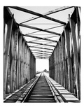 Railroad Bridge: Red River Giclee Print