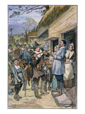Pilgrims: Thanksgiving, 1621 Giclee Print by W.F. Sheppard