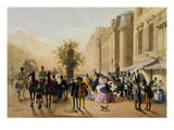 Guerard: Cafe Tortoni, 1856 Giclee Print by Eugene Von Guerard