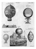 Hot-Air Balloons, 1783-84 Giclee Print by Andrew Bell