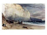 Bonington: Cliff, 1828 Giclee Print by Richard Parkes Bonington