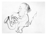 Lester Young (1909-1959) Giclee Print by Alfred Bendiner