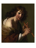 Moreelse: Flute Player Premium Giclee Print by Paulus Moreelse