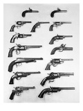 Pistols and Revolvers Giclee Print