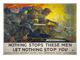 World War I: Poster, 1918 Giclee Print by Howard Giles