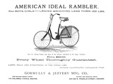 American Bicycle, 1890 Giclee Print
