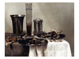 Heda: A Dessert, 1637 Prints by Willem Claesz. Heda