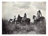 Apache on Horseback, c1906 Giclee Print by Edward S. Curtis