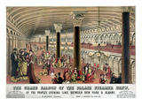 Steamship: Saloon, c1878 Giclee Print by  Currier & Ives