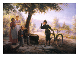 Female Bicyclist, 1892 Giclee Print by Edward Lamson Henry