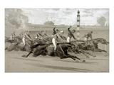 Maurer: Horse Race Giclee Print by Louis Maurer