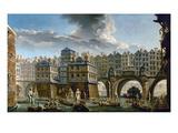 Paris: Pont Notre-Dame Giclee Print by Nicolas Raguenet