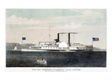 Hudson River Steamship Giclee Print by  Currier & Ives