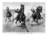 Horse Racing, 1890 Giclee Print by  Currier & Ives