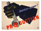 World War II Poster, 1941 Giclee Print by Jean Carlu