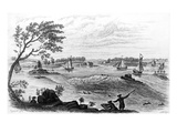 NYC: East River, c1775 Giclee Print by Samuel Hollyer