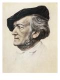 Richard Wagner (1813-1883) Giclee Print by Franz Seraph von Lenbach