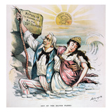 Free Silver Cartoon, 1893 Prints by Louis Dalrymple
