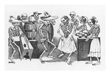 Posada: Happy Dance Giclee Print by Jose Guadalupe Posada