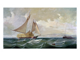Denny: Hay Schooner, 1871 Giclee Print by Gideon Jacques Denny