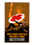 Red Cross Poster, 1917 Giclee Print by Willy Sesser