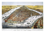 View of New York, 1876 Giclee Print by  Currier & Ives