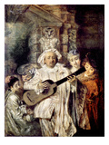 Watteau: Gilles and Family Posters by Jean Antoine Watteau