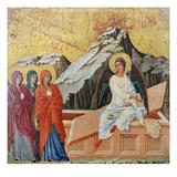 Duccio: Three Marys Giclée-tryk af  Duccio di Buoninsegna
