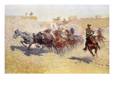 Remington: Attack Giclee Print by Frederic Sackrider Remington