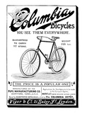 Bicycle Ad, 1896 Giclee Print