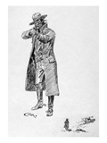 Russell: Stage Robber Giclée-tryk af Charles Marion Russell