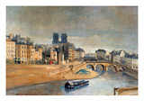 Corot: Orfevres Quai Prints by Jean Baptiste Camille Corot