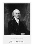 James Madison (1751-1836) Giclee Print by W.A. Wilmer