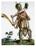Iroquois Warrior Premium Giclee Print by Jacques Grasset de Saint-Sauveur