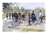 Bicycle Tourists, 1896 Giclee Print by Arthur Burdett Frost