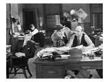 Silent Film Still: Offices Giclee Print