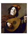 Leyster: The Jester Premium Giclee Print by Judith Leyster